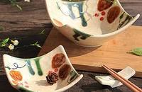 创意陶瓷碗 翘脚手绘小菜碟子咸菜碟子