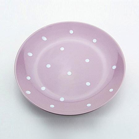 欧式碗盘碗碟 可爱波点盘子 陶瓷盘菜盘