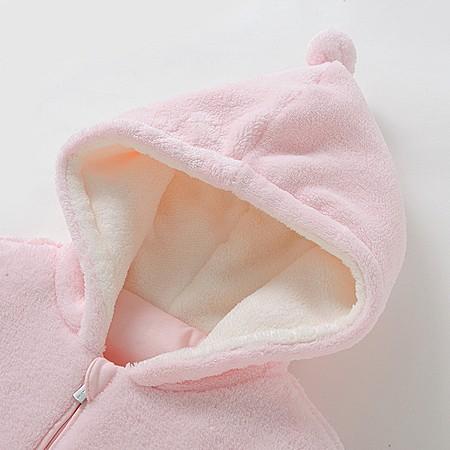 英氏婴儿衣服秋冬加绒保暖棉衣男女宝宝外套有帽