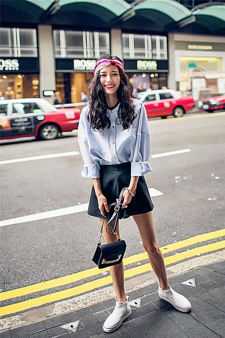 极简廓型纯色衬衫