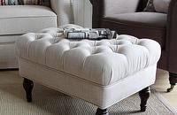 美式简约纯白单人沙发