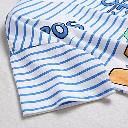 条纹休闲T恤纯棉体恤打底衫女夏装短袖上衣