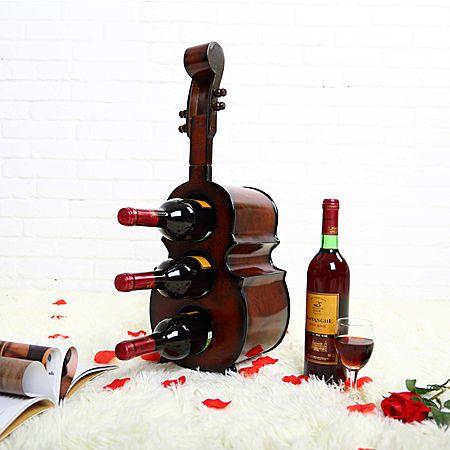 欧式提琴造型手工木质红酒柜