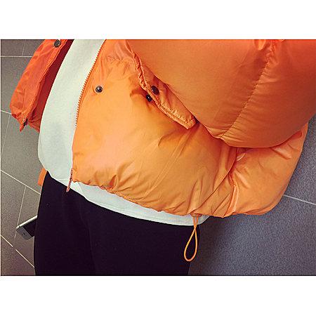 橘色立领面包服