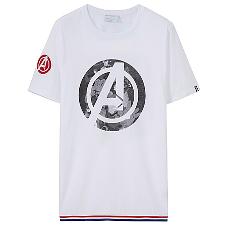复仇者联盟系列印花短袖T恤