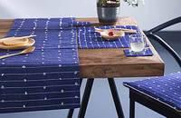 日式手工藏青餐垫