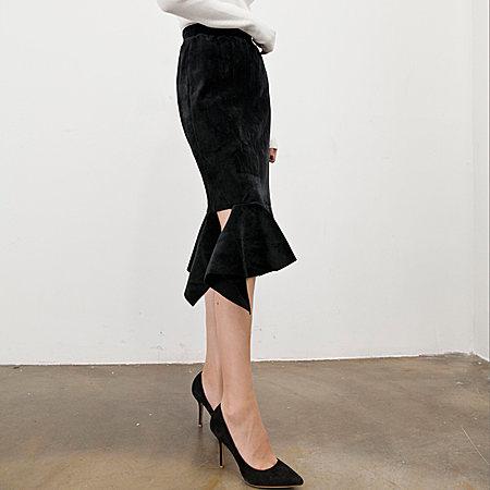 丝绒鱼尾半身裙