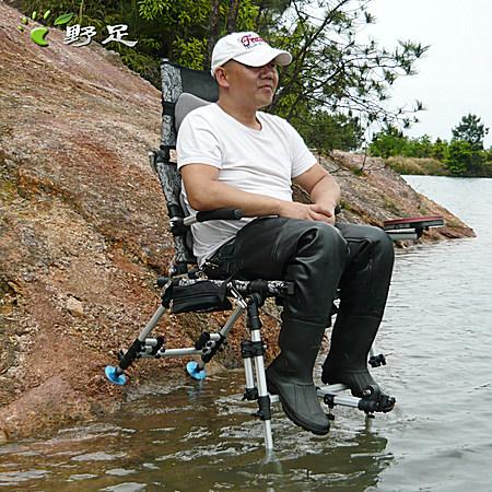 野钓帮手可折叠钓鱼台便携式钓鱼凳子