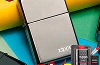 zippo打火机正品美国原装 黑冰150ZL标志