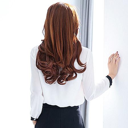 春装新款印花上衣 韩版修身打底衫衬衣