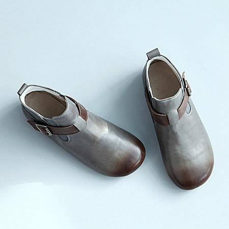 圆头休闲短靴