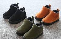 内里毛绒儿童短靴