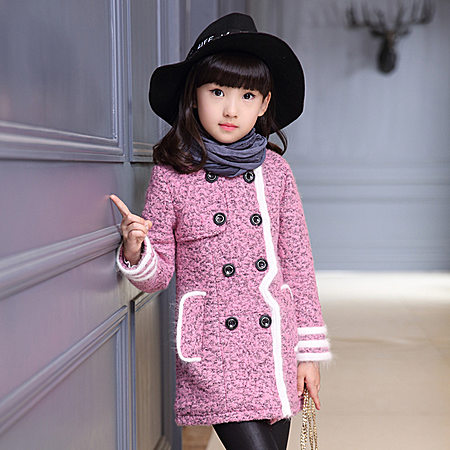 羊绒毛呢双排扣时尚外套