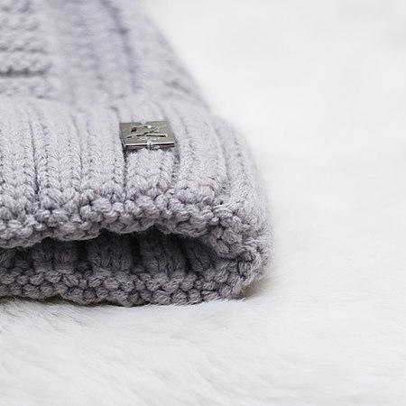 保暖小绒球针织帽