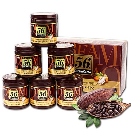 韩国乐天56%可可纯黑巧克力