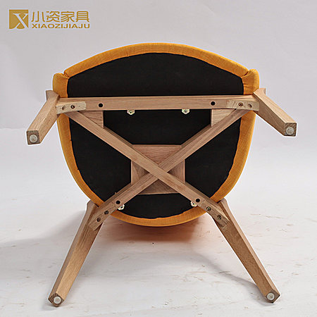 北欧棉麻布艺休闲椅子