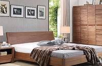 北欧实木床1.8双人床中式实木床胡桃木实木床