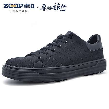 超纤皮厚底板鞋