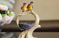 幸福一窝鸟 婚庆情人节礼物家居客厅摆设桌面