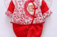 宝宝唐装女童秋冬装棉衣新年唐装婴儿衣服礼服