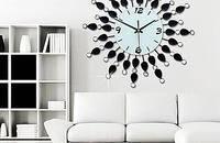 久久达镶钻客厅大号欧式铁艺时尚创意静音石英钟