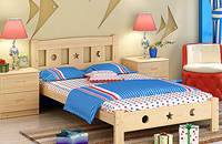 儿童家具系列之1米宽带护栏松木单人床