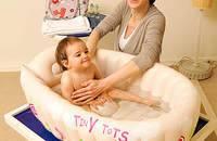 可折叠大号充气婴儿洗澡盆 新生儿浴盆