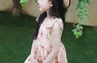 船鼠 韩版夏季女童印花连衣裙