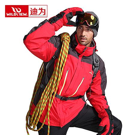 户外冲锋衣男款三合一冬季两件套保暖加厚登山服