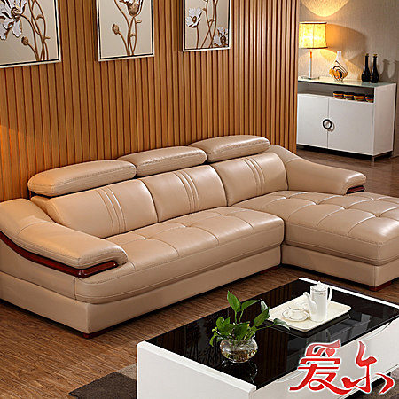真皮沙发 进口牛皮简约现代组合小户型自由搭配
