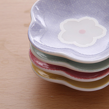 日式陶瓷筷子架套装 甜美可爱四件套筷子架