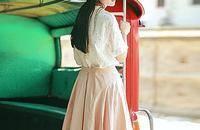 复古气质宽松中长款半身裙