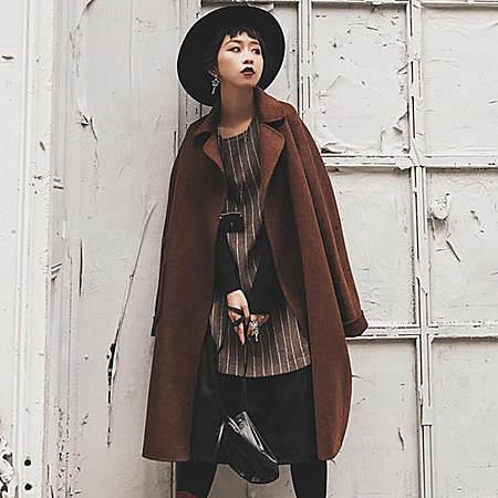 手工羊毛呢子大衣