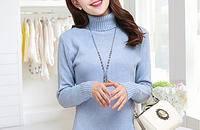 女裝高領毛衣女套頭加厚韓版修身純色針織打底衫