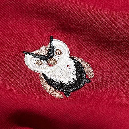 圆领短款绣花针织卫衣