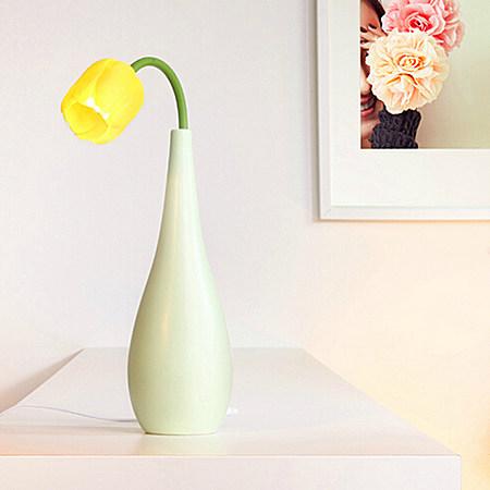 生活演异朝花夕瓷台灯 LED陶瓷灯工艺品创意台灯