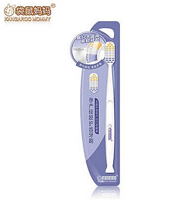 袋鼠妈妈 孕妇产前产后专用口腔护理牙刷软毛