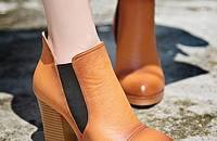 氣質舒適粗跟百搭真皮短靴