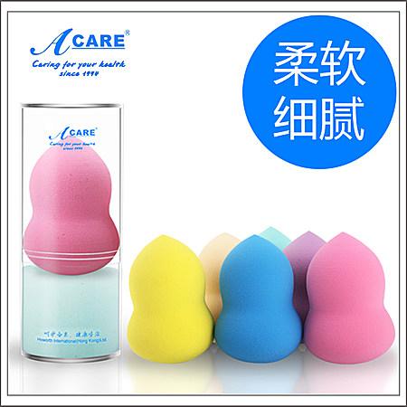 Acare干湿两用形葫芦粉扑化妆海绵球