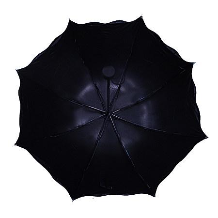 遇水开花韩国晴雨伞 黑胶防紫外线遮阳伞