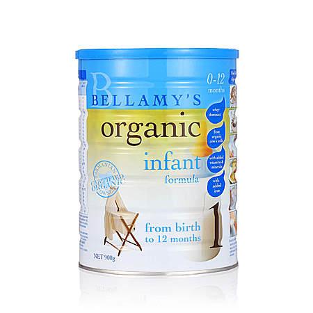 澳洲贝拉米 Bellamys一段婴儿有机奶粉1段