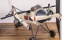 美式复古飞机模型摆件