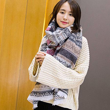 民族风棉麻披肩围巾