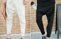 哈伦裤春装韩版大裆裤男跨裤黑色垮裤吊裆裤
