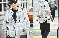 泡妞神衣:日系复古七分袖蝙蝠衬衣潮男衬衫
