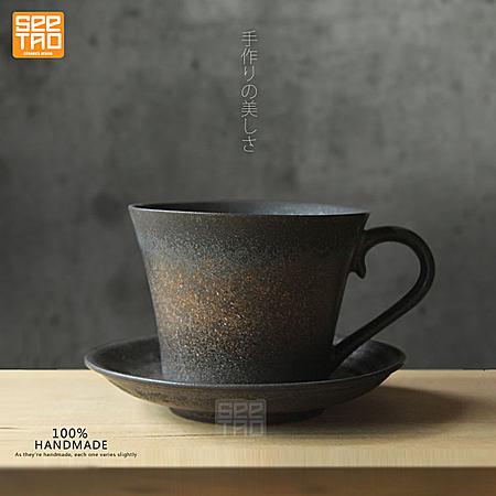 原创日式陶瓷鎏金创意简约个性咖啡牛奶杯情侣杯