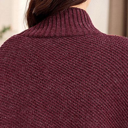 YOYO推荐单品:斗篷高领蝙蝠衫毛衣外套针织线衫