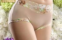 中腰女內褲奢華寬腰竹纖維 時尚印花高彈收腹