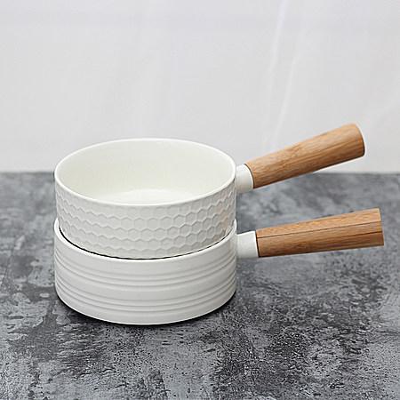 日式创意手柄陶瓷碗