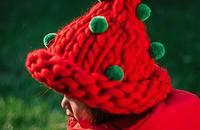 編織尖頂帽子